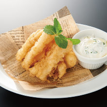 Squid fritters