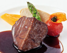 Simmered beef cheek