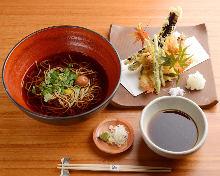 Buckwheat noodles with tempura