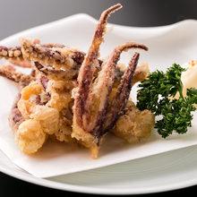Fried squid legs