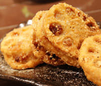 Deep-fried stuffed lotus root