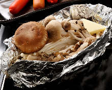 Grilled mushrooms with butter