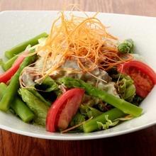 Avocado and seafood salad