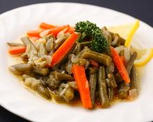 Itamemono (Green beans,Olive oil)