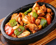 Stir-fried meat and vegetables
