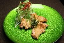 Food dressed with ponzu