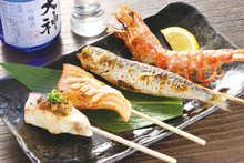 Grilled fish skewer