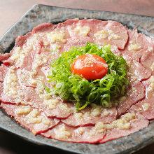 Seared beef tartare