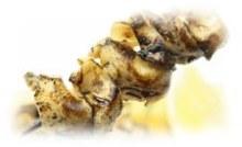 Grilled whelk skewer