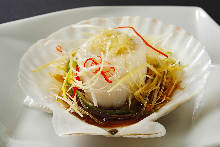 Steamed scallop ligaments