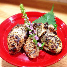 Seared oysters marinated in Kyoto-style miso