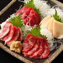 Assorted edible horse meat, 4 kinds