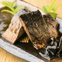 Salted and grilled fatty mackerel