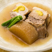 Simmered pork belly