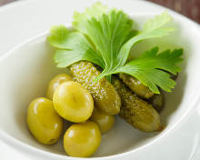 Olives and pickles