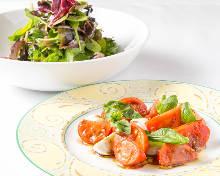 アメーラトマトとモッツァレラのカプレーゼ