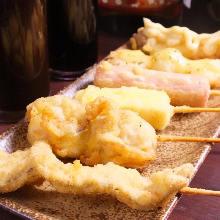 Assorted fried cutlet skewers, 6 kinds