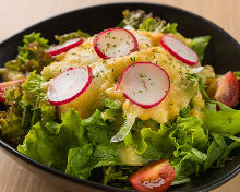 Enzyme salad with corn dressing