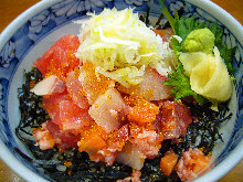 Makanai don (rice bowl originally made for staff meals)