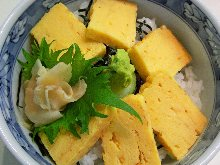 Egg rice bowl