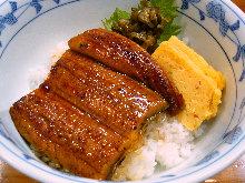 Premium eel rice bowl