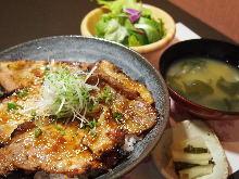 Miso pork rice bowl