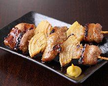 Grilled pork skewer