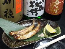 Shishamo smelt with roe