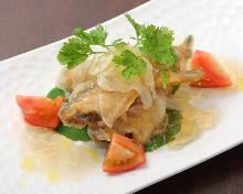 Marinated seafood