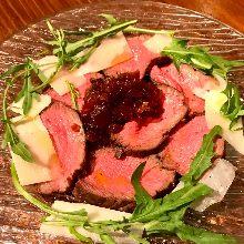 Chilled Wagyu roast beef