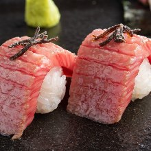 Assorted meat sushi