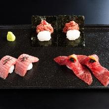 Beef sushi platter