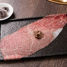 Grilled lean meat shabu-shabu