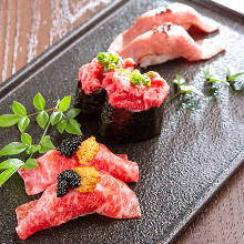 Assorted beef sushi, 3 kinds