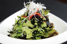 Korean-style salad with seaweed