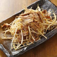 Roasted pork with leeks