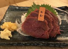 Horse fillet meat sashimi