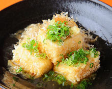 Deep-fried tofu in broth