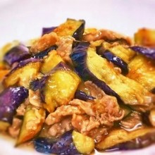 Meat and Eggplant Miso Stir-fry