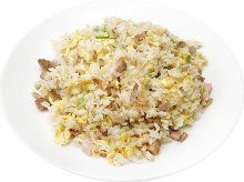 Fried rice with roasted pork