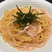 Squid and spicy cod roe pasta