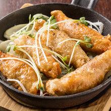 Chicken wings gyoza