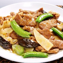Stir-fried beef with oyster sauce