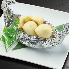 Baked in foil with garlic