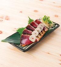 Seared skipjack tuna