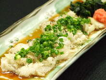 Seared flounder engawa