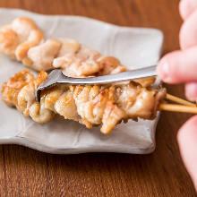 Chicken skin skewer