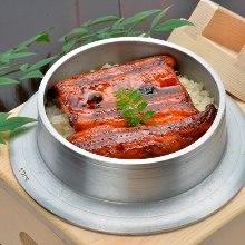 Eel kamameshi (pot rice)