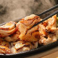 地養鶏の炭火焼き(柚子胡椒)