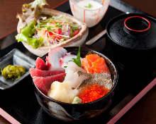 海鮮楽座丼セット